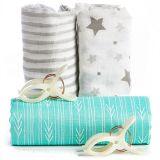 Swaddle Blanket Premium 100% Bamboo Muslin Wrap