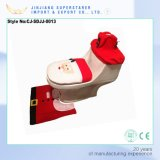 Christmas Bathroom Four-Piece Suit Toilet Seat Cover and Rug