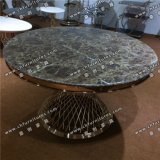Modern Dining Room Furniture Marble Top Stainless Steel Dining Table Yc-St31