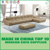 American Retro Home Furniture Sectional Genuine Leather Sofa