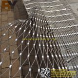 Decorative Stainless Steel Ferrule Flexible Cable Zoo Animal Aviary Bird Stair Balcony Balustrade Suspension Bridge Railing Helideck Green Wall X-Tend Rope Mesh
