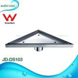 Stainless Steel 304 Triangle Design Floor Drain for Bathroom Corner with Watermark