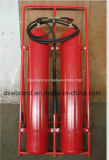 CO2 (Carbon Dioxide) Double Trolley  Fire Extinguisher (25+25) 50 Kg.