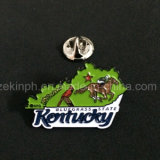 Pin Badge with Soft Enamel Process, Black Nickel Plated