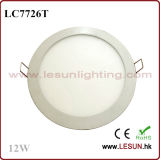 Round 12W LED Recessed Ceiling Panel Light (LC7726T)
