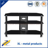 2016 Modern Design Black Metal Glass LCD TV Stand
