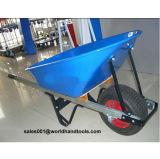 Wooden Handle and Steel Tray Wheelbarrow
