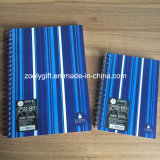 Stripes Printing PP Spiral Notebook Personal A4 / A5 Double Spiral Poly Cover Notebook