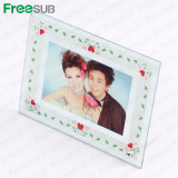 Fashionable Heat Press Double Mirror Circle Glass Photo Frame