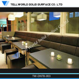 Modern 8 Seater Round Solid Surface Marble Top Corian Restaurant Dining Table and Chairs Set Design Manufacturer
