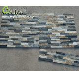 Multi Color Mixed Quartzitz Stacked Ledge Culture Stone Wall Tile