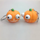 Promotional Squeeze Pumpkin Keychain Toys for Halloween (EYT067)