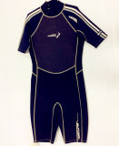 Short Neoprene Surfing Wetsuit with Nylon Fabric (HX15S68)