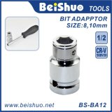"1/4-Inch 1/2"" 3/8"" Drive Ratcheting Screwdriver Bit Adapter"