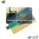 Customized Logo Card USB Disk, Promotional Gift USB Flash Drive HTCC001