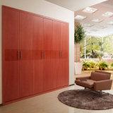 Oppein Red Brown Built-in Wooden Hinged Wardrobe (YG11333)