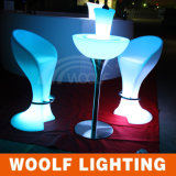 LED Glowing Plastic Round Cocktail Tables