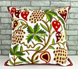 100% Cotton Embroidery Cushion Cover (QCK-1501)