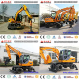 China Supply 6t 8t 12t 15t Wheel Excavator, 4X4wd 6t Best Quality Cheap Price Excavators