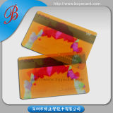 SGS Approved Transparent PVC Plastic Magnetic Stripe Member Card
