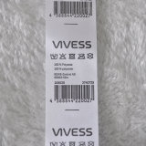 Simple Content Printed Label with Bar Code for Clothing