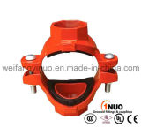 FM/ UL/Ce Certified Mechanical Cross Thread Outlet for Fire Fighting
