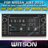 Witson Car DVD Player with GPS for Nissan Juke 2014 (W2-D8900N)