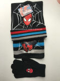 Custom Made Embroidered Spider Man Kids Acrylic Beanie Hat