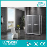 8mm Tempered Glass Rectangle Double-Sliding Door Shower Room Norman E32