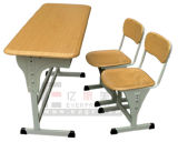 Everpretty Furniture Study Table for Reading, Double Seaters Moulded Wood Table Chair (GT-47)