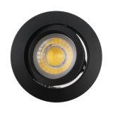 Lathe Aluminum GU10 MR16 Round Recessed Tilt Spotlight (LT2206A)
