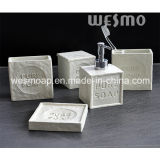 Soap Shape Polyresin Bathroom Set (WBP0933A)