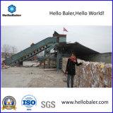 Horizontal Waste Paper Baling Machine with Conveyor (HSA4-6)