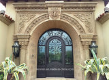 Tempered Glass Front Door for House, Iron Material