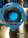 Soft Seat Flanged Butterfly Valve with Gearbox Operator