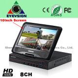 10.1 Inch LCD 8CH H. 264 NVR Security NVR (EV-S1005-8CH)