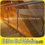 Indoor Stainless Steel Handrail Clear Glass Balustrade