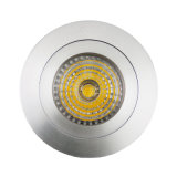 Lathe Aluminum GU10 MR16 Round Fixed Recessed LED Ceiling Light (LT2110A)