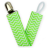 in Stock Personalized Baby Chevron Pacifier Clip