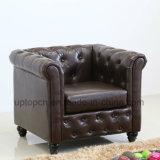 Hot-Selling Hotel Low Back Upholstery Armrest Leather Chair (SP-HC450)