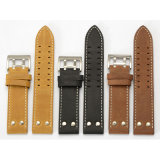 Double-Row Buckle Hole Genuine Leather Watch Straps