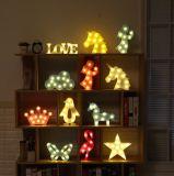 Ins Hotsale Home Decor Gift Lamp LED Flamingo Pineapple Horse Cactus Deer Desk Nightlight