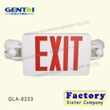 ABS Plastic Rechargeable Red Fire Exit Sign LED Emergency Light