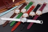 Stainless Steel Case Watch Genuine Leather Watch OEM Watch for Ladies