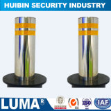 Security Retractable Semi - Automatic Rising Bollard with 304 Stainless Steel
