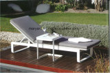 Outdoor Aluminum Fabric Chaise Lounger