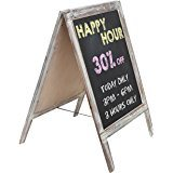 A Shape Sign Stand Wooden Chalkboard a Frame Sign
