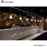 Modern Cafe Bar Furniture LED Decorated Bar Counter