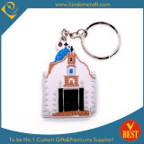 China Popular Wholesale Die Casting House Shape PVC Key Chain in High Quality