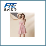 Silk Pajamas Condole Belt Dress